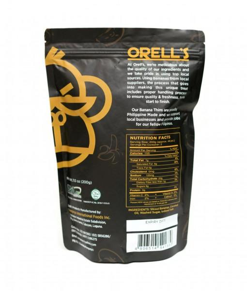 Orells Original Banana Thins Pouch